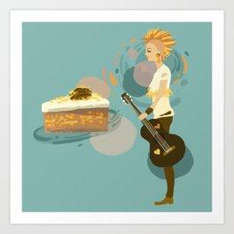 Pineapple Carrot Nut Cake Art Print