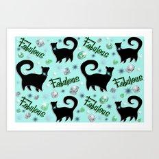 Fabulous Felines Art Print