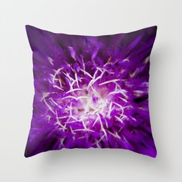 Abstract Flower Nature Photo Throw Pillow