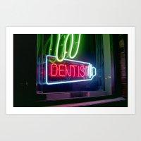 dentist Art Prints featuring Dentist by Adriane Dizon