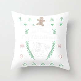 Pet Slow Loris Christmas Ugly Shirt Throw Pillow