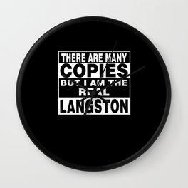 I Am Langston Funny Personal Personalized Fun Wall Clock