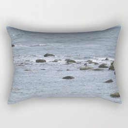 A colony of Magellanic penguins near Punta Arenas Chile Rectangular Pillow