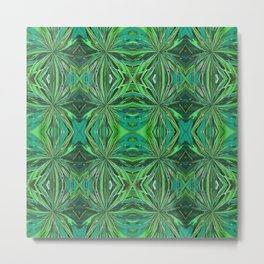 Teal and Green Pattern 808 Metal Print