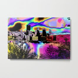 Tripping Bridges Metal Print