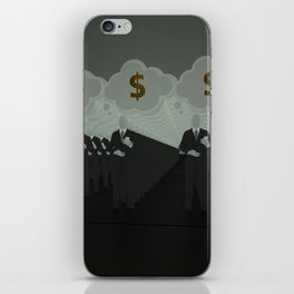 Where all think alike, no one thinks very much. iPhone Skin