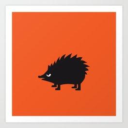 Angry Animals: hedgehog Art Print