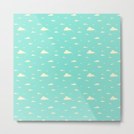Fishies swimming in the Sky  Metal Print