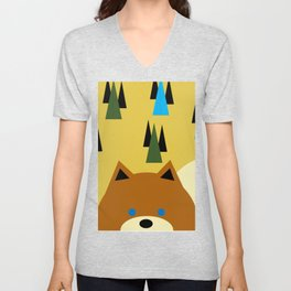 Yellow Squirrel Unisex V-Neck