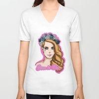 lana V-neck T-shirts featuring Lana by KeriiLynne