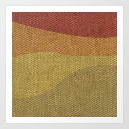 Fall Themed Waves Art Print