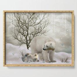 Awesome polar bear Serving Tray