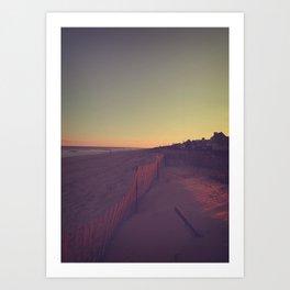 Sunset on the Jersey Shore Art Print