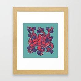 Tentacurls Framed Art Print
