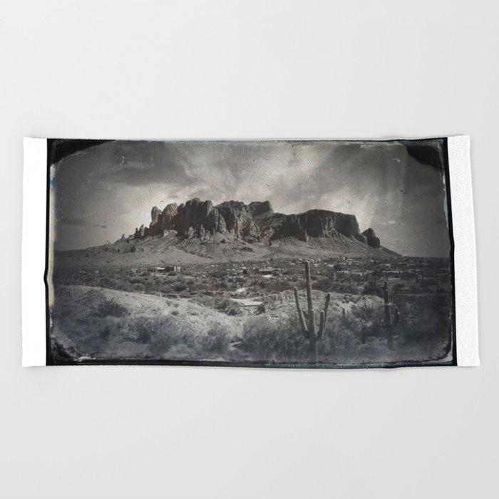 Superstition Mountain - Arizona Desert Beach Towel