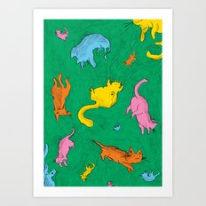 Charming Cats Art Print
