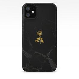 Forever Petal (Black Gold) iPhone Case