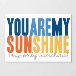 {sunshine-blue} Canvas Print