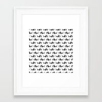 sharks Framed Art Prints featuring Sharks by Mobii