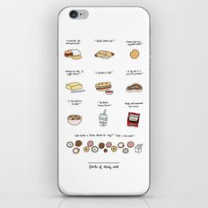 Foods of 30 Rock iPhone & iPod Skin