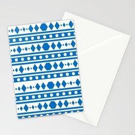 Blue Tribal Pattern Stationery Cards