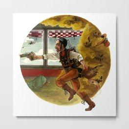 Steampunk Master Wolfe Metal Print