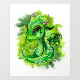Lil DragonZ - Elements Series - Earth Art Print