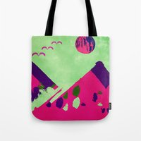 watermelon Tote Bags featuring Watermelon  by SensualPatterns