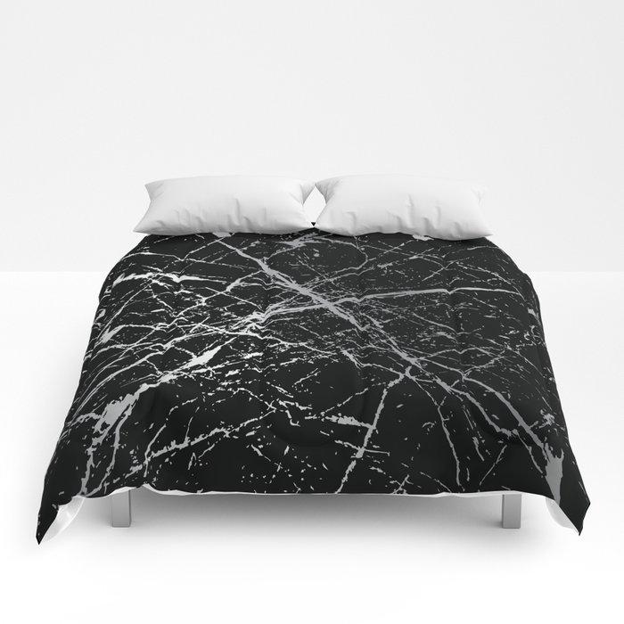 Silver Splatter 090 Comforters