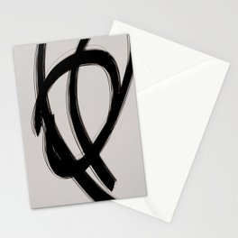 Strokes 3   Minimal Black & Neutral Abstract Stationery Cards