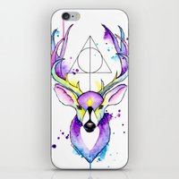 harry potter iPhone & iPod Skins featuring Harry Potter Patronus by Simona Borstnar