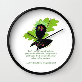 Tend your own garden Wall Clock