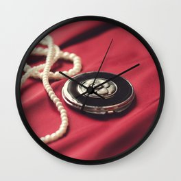 Silk and Rose Wall Clock