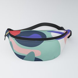 Abstract Floral Pattern II Fanny Pack