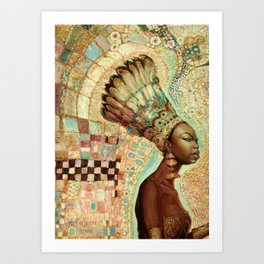 NINA SIMONE - Black Gold Art Print