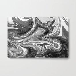 FLUSH - BLACK Metal Print