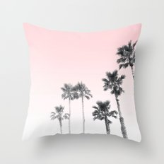 Tranquillity - pink sky Throw Pillow