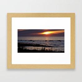 Surreal Seaside Sunset Framed Art Print