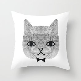 The sweetest cat Throw Pillow