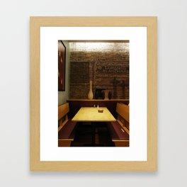 a chicago table Framed Art Print