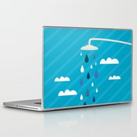 shower Laptop & iPad Skins featuring shower  by mark ashkenazi