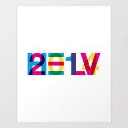 helvetica 2014 Art Print