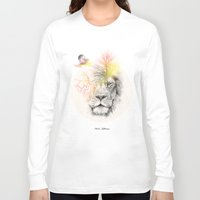 lion Long Sleeve T-shirts featuring lion  by mark ashkenazi