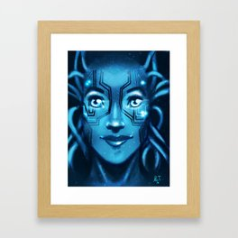 Cyber Girl Framed Art Print