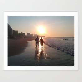 Lovers At Dawn Art Print