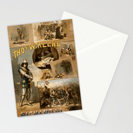 Vintage Richard III Theatre Poster Stationery Cards