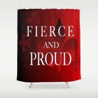 fleur de lis Shower Curtains featuring FLEUR DE LIS   by Saundra Myles