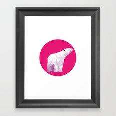 Magenta Polar Bear Framed Art Print