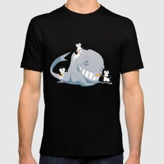 penguins and a whale MEDIUM Mens Fitted Tee Black