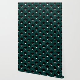 Art Deco Shell Print Wallpaper